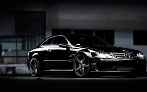 Picture black, tuning, coupe, Mercedes Benz, Mercedes, CLK, Black Series