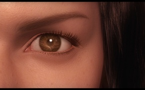 Picture look, girl, eyes, rendering, final fantasy, the spirits within us