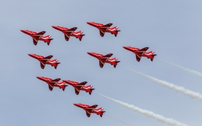 Picture aviation, Airshow, aircraft, Red Arrows