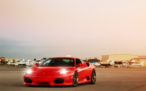 Picture light, lights, ferrari, the airfield, f-430