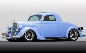 Picture Ford, drives, chrome, Hot Rod