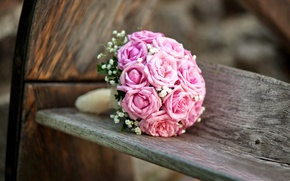 Picture flowers, flowers, wedding, bouquet, roses, pink, bouquet, roses, wedding