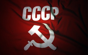 Picture background, flag, USSR, the hammer and sickle