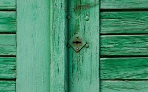 Picture green, wall, pattern, door
