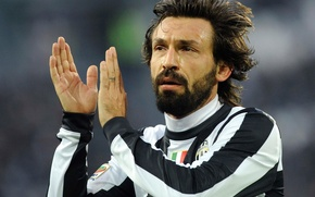 Picture white, black, Andrea Pirlo, Juventus F. C