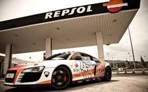 Picture Audi, Auto, Road, Tuning, Machine, Dressing, Gas station