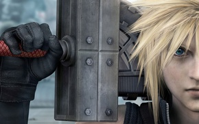 Picture weapons, guy, Stryfe, Cloud, advent children, cloud strife, final fantasy, finalka