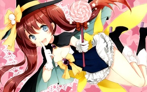 Picture girl, Lollipop, Anime, sorceress, art, laughs, Kono Naka ni Hitori Imouto ga Guests, Miyabi Kannagi