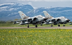 Wallpaper the airfield, fighters, landscape, aircraft