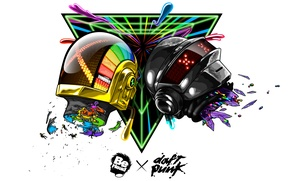 Wallpaper electronic, house, techno, Daft Punk, dance