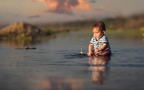 Picture water, squirt, splash, child