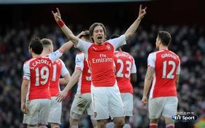 Picture background, Arsenal, players, Arsenal, Football Club, The Gunners, The gunners, Football club, With Santi Cazorla, …