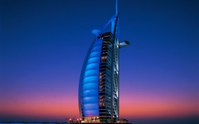 Picture Dubai, twilight, UAE, Burj Al Arab, Burj al Arab