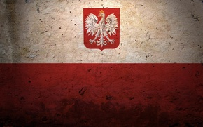 Picture flag, coat of arms, Poland