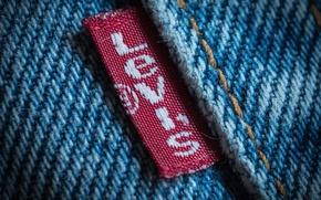 Picture macro, jeans, logo, Levi's®