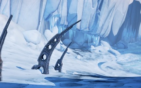 Wallpaper landscape, ice, snow, Borderlands 2