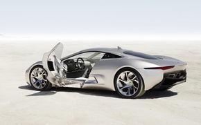 Picture machine, Concept, Jaguar, the door, silver, C-X75
