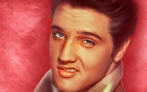Wallpaper face, portrait, texture, singer, Elvis Presley, Elvis Presley, rock-n-roll, the king of rock ' n ...