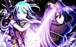Picture girl, anime, art, Sword art online, Sword Art Online, Kirito