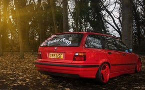 Picture BMW, red, wagon, E36