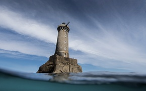 Picture sea, the sky, lighthouse