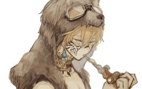 Picture wolf, tube, earrings, anime, art, glasses, skin, guy, tattoo, ears, inunokoms