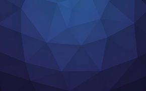 Picture line, night, blue, paper, triangles, bending, angle, faces, geometry, polygons