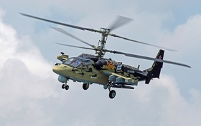 """Picture the sky, flight, helicopter, Russian, Ka-52, shock, """"Alligator"""""""
