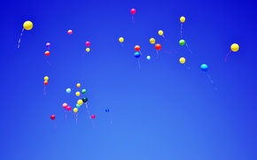 Picture The sky, Colored, Balls, Flight, Sky, Balls, Colored, Flying