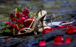 Picture flowers, romance, roses, bouquet, rose, wedding, flowers, beautiful, cool, bouquet, roses, nice, wedding, romance