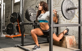 Picture woman, fitness, workout, hard work, legs