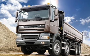 Picture Dump truck, CF85.460, ЦФ85.460, Truck, DAF, DAF, Tipper, Wheel