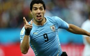 Picture football, player, football, Barcelona, player, team, Uruguay, Luis Suarez, Luis Suarez, national team