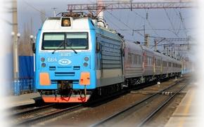 Picture rails, train, locomotive