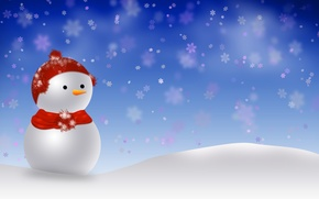 Wallpaper snow, holiday, new year, snowman, the scenery, happy new year, snowman, christmas decoration, Christmas Wallpaper, ...