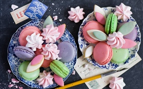 Picture cookies, sweet, Anna Verdina, Macaron, meringue