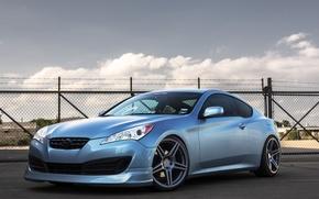 Picture profile, blue, blue, hyundai, Hyundai, genesis, Genesis