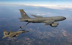Wallpaper flight, fighter, tanker