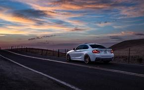 Picture BMW, Car, Sunset, Sunrise, Mountains, Wheels, Before, Rear, M235i, Garde, San Jose