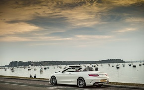 Picture Wallpaper, Mercedes-Benz, wallpaper, white, car, Mercedes, sky, auto, Cabriolet, S 500, AMG line