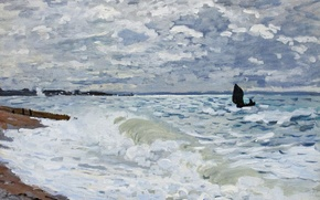 Picture picture, seascape, Claude Monet, The sea at Sainte-Adresse