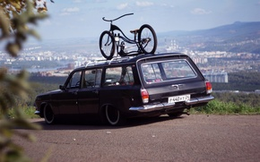 Picture USSR, BIKE, The CITY, RARITY, GAS, DAL, LANDSCAPE, FRAME, VOLGA