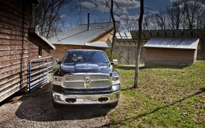 Picture The hood, Dodge, Lights, pickup, 1500, Ram, The front