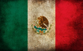 Picture color, strips, flag, Mexico, picture