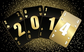 Picture card, background, new year, suit, 2014