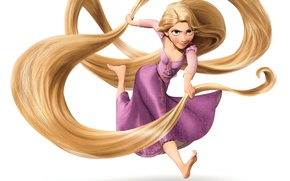 Wallpaper girl, hair, Rapunzel