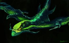 Picture art, Viper, Dota 2, Netherdrake
