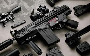 Wallpaper weapons, trunk, optics