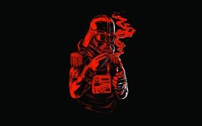 Picture red, black, buttons, lighter, Dark Vader, Star Wars helmet, cigariilo, fringes