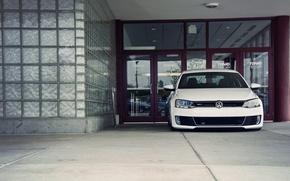 Picture Volkswagen, Jetta, white, front, MK6, GLI